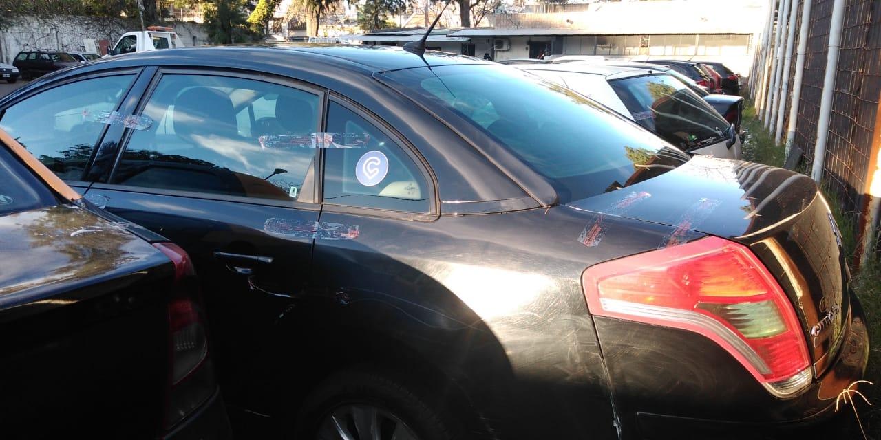Los autos remitidos al corralón (Gentileza Secretaría de Control).