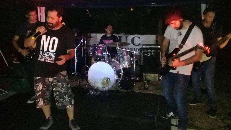 Hijos del Rock, una de las bandas que tocará esta noche en la Vecinal.