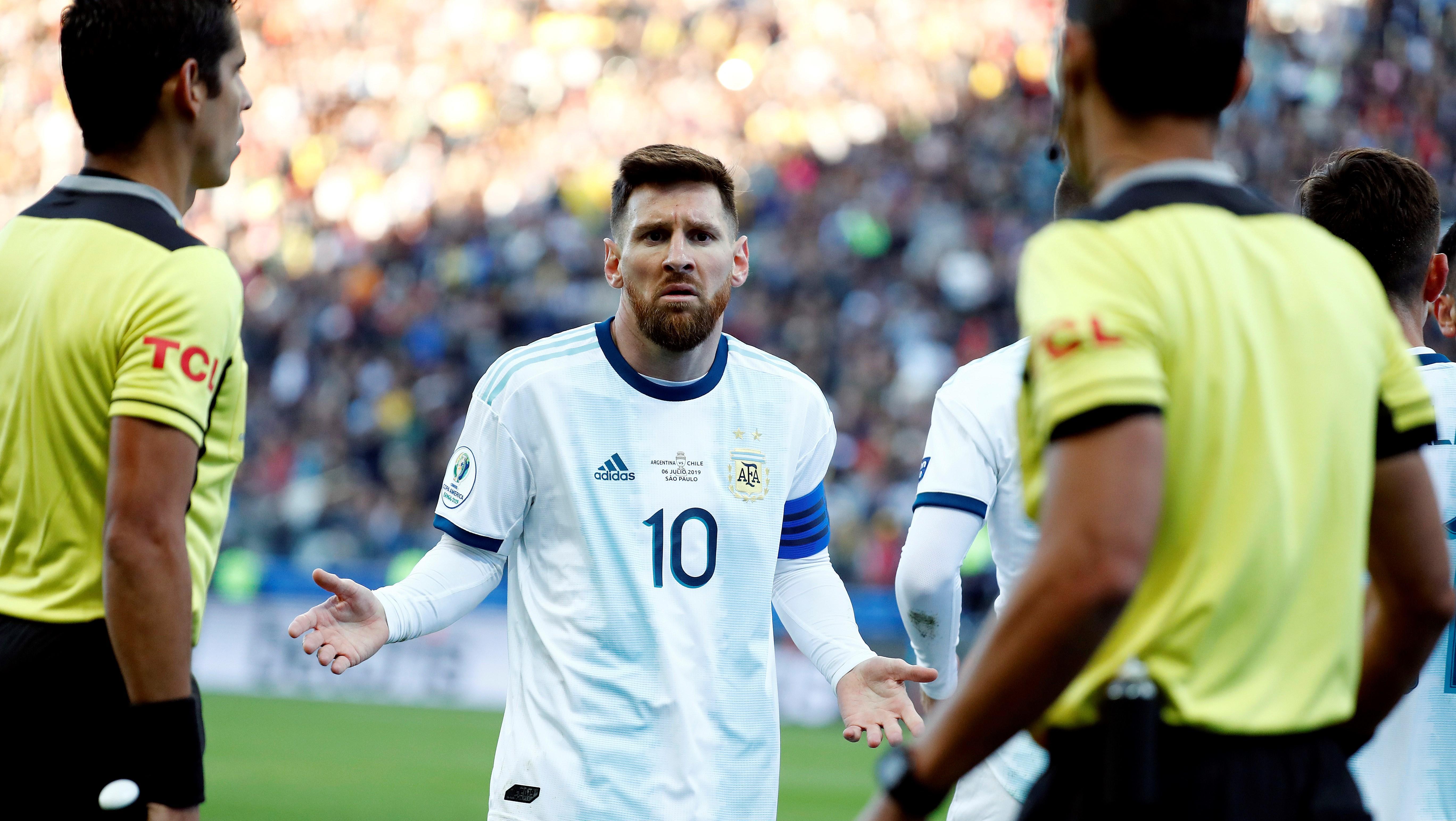 Messi despotricó contra todos en Brasil (Foto de EFE)