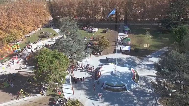 La Plaza San Martín, donde de izará la bandera y culminarán los festejos.