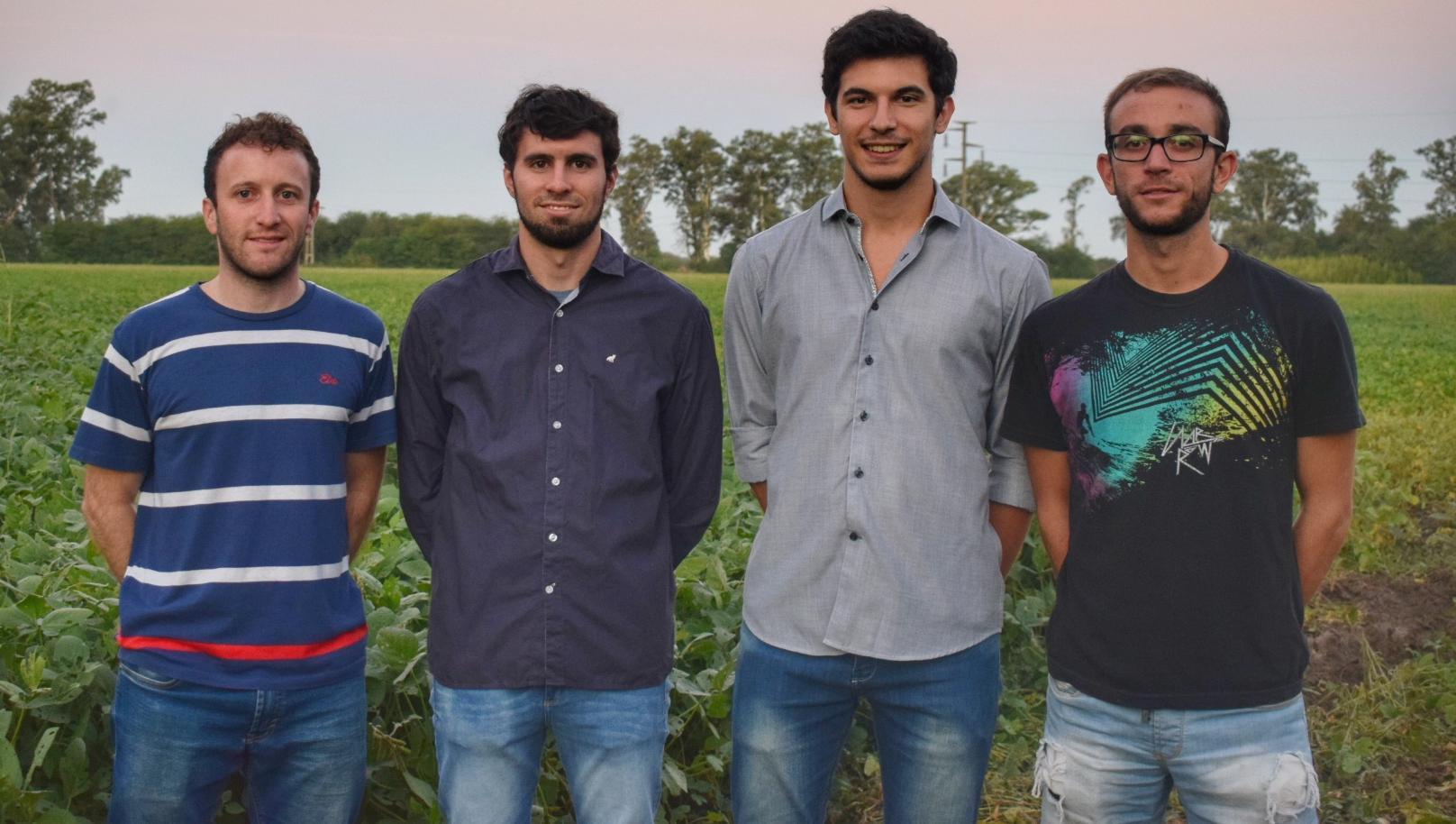 Los jóvenes emprendedores encargados de Deep Agro.