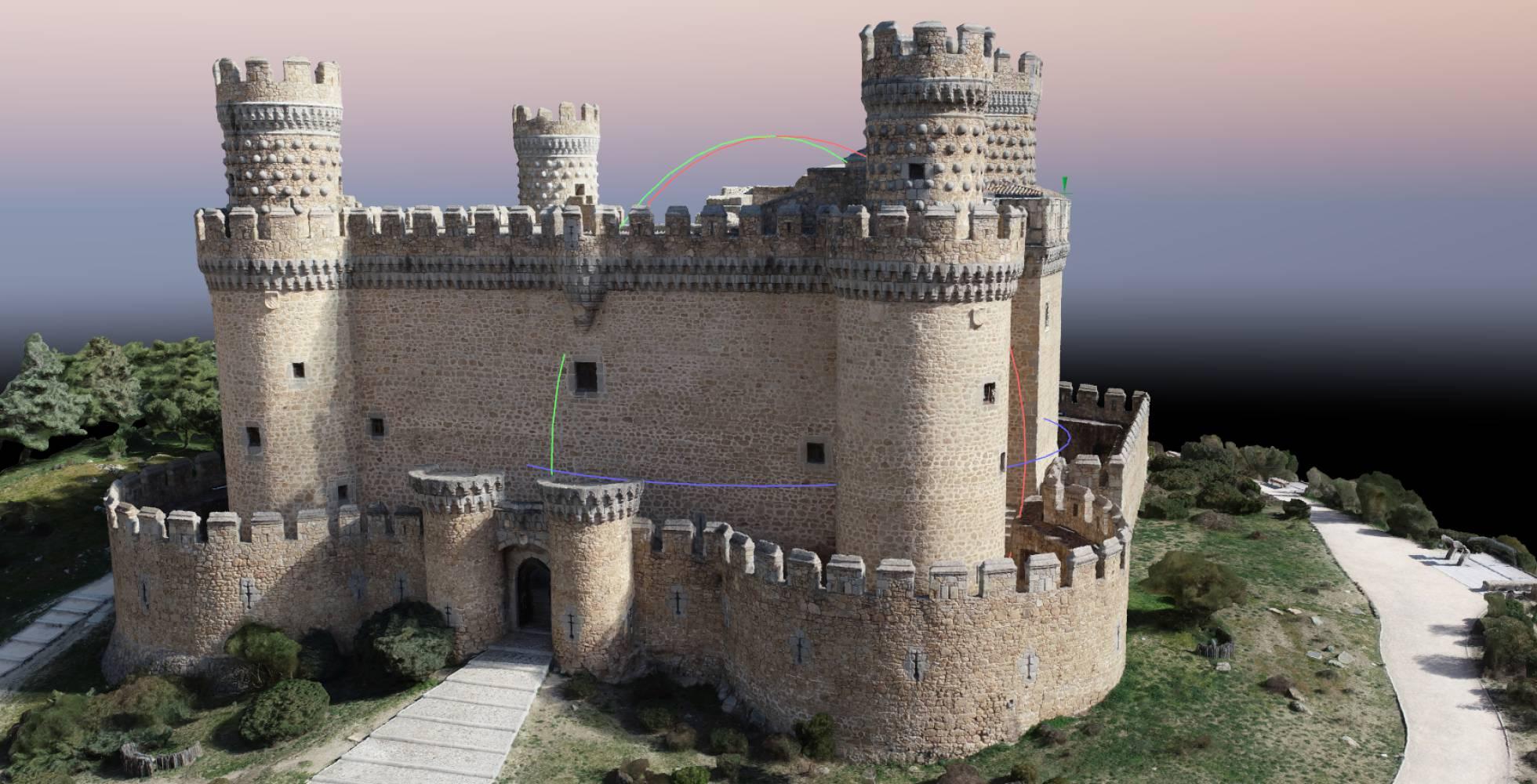 Castillo de Manzanares, Madrid, uno de los lugares a visitar en realidad virtual