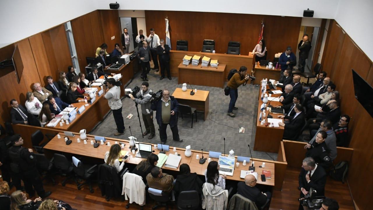 La sala de audiencia donde este martes se dictó sentencia.