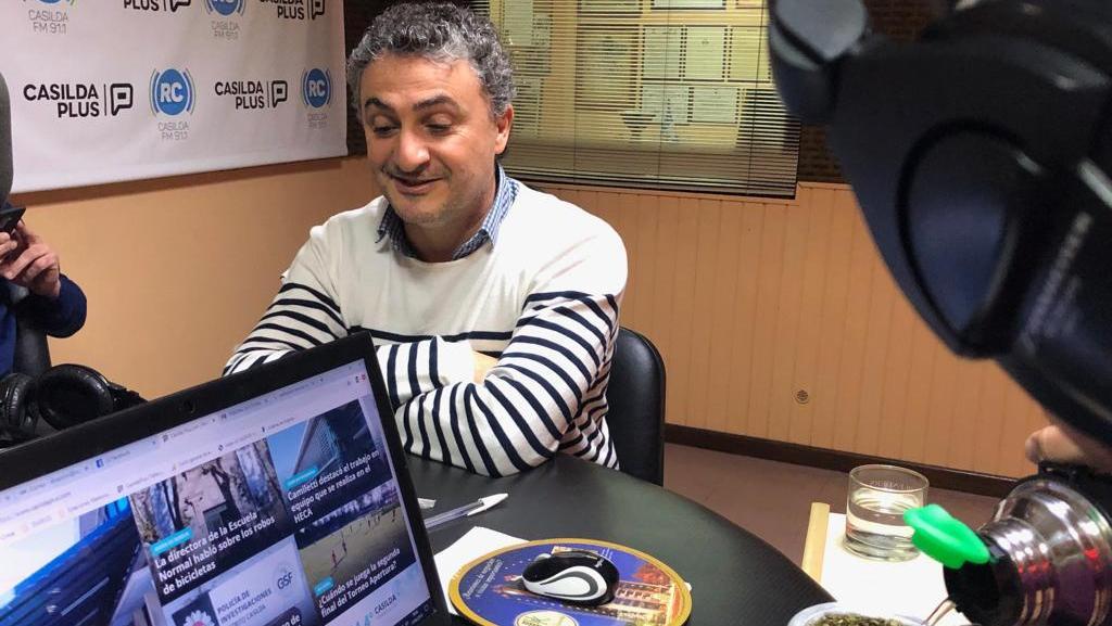 El nuevo concejal pasó por los micrófonos de Radio Casilda.