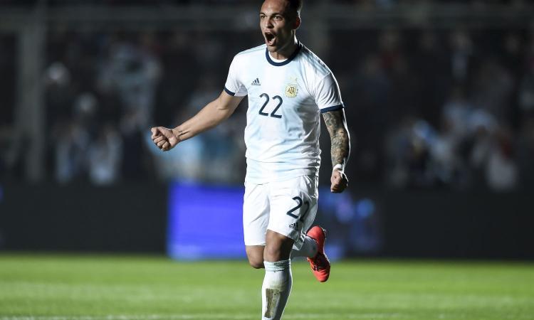 Lautaro Martínez es el recambio en la delantera argentina