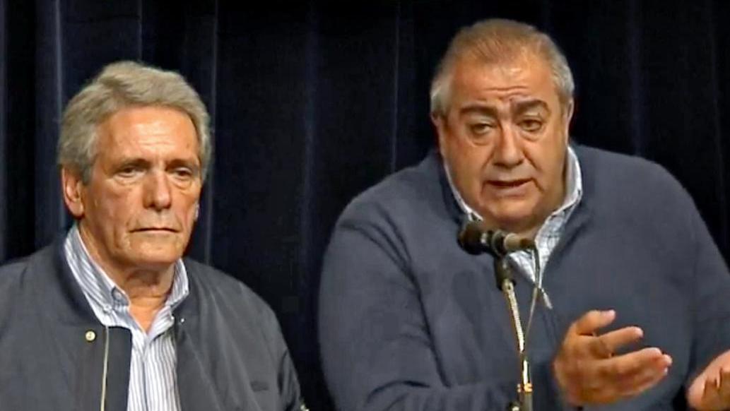 Acuña y Daer fueron los encargados de anunciar la medida de fuerza