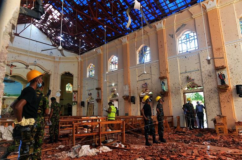 Una de las iglesias donde se detonó un explosivo y causó decenas de muertes.