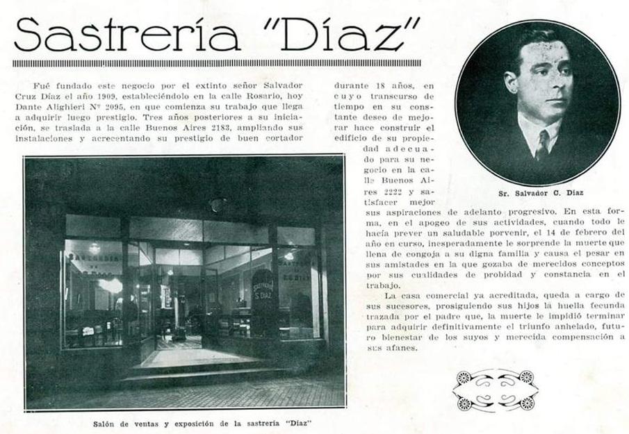 En el edificio funcionó la sastrería de Salvador Diaz.