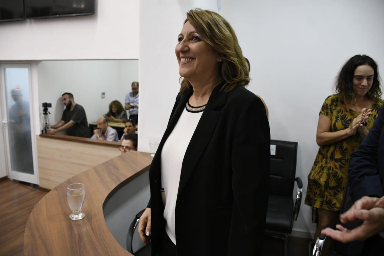 Feindio su último discurso tras ocho años de gestión. (Foto: Rosario Plus)