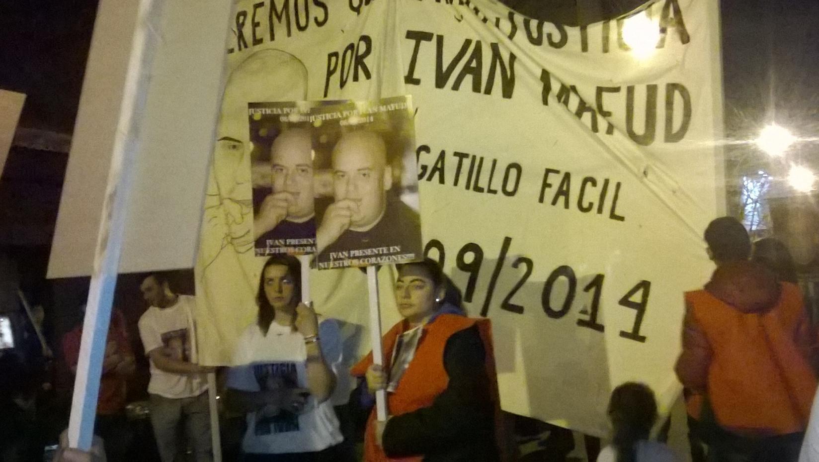 Movilización en reclamo de justicia por el asesinato de Iván Mafud.