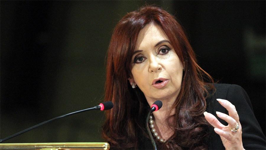 Cristina debutó en el Senado