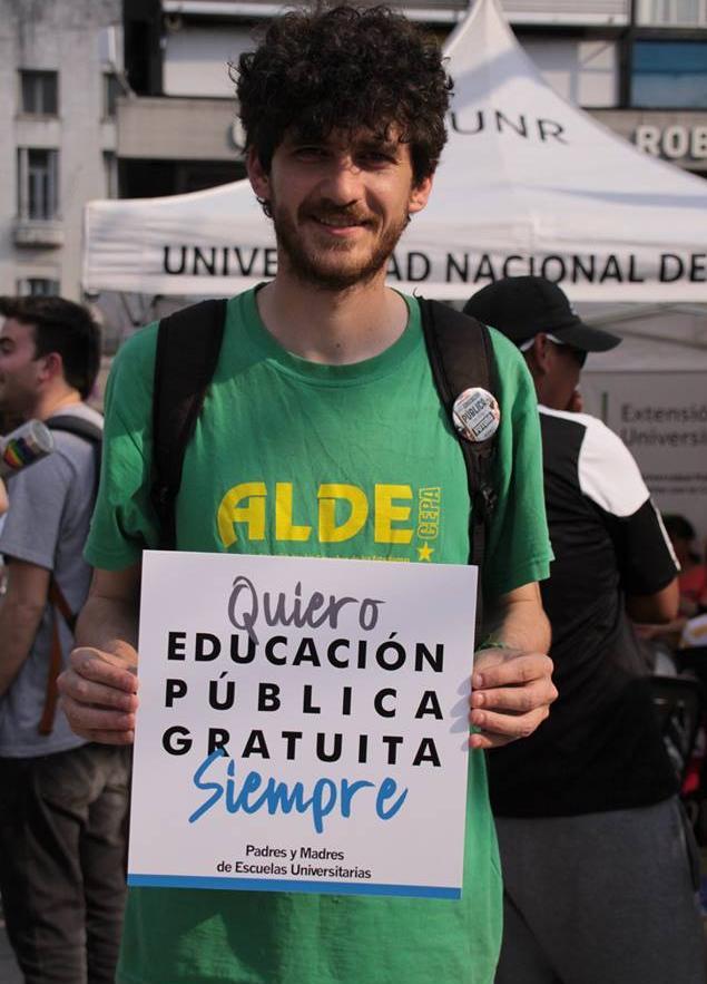 Manuel Leiva,secretario general de la Federación Universitaria Rosario (FUR).