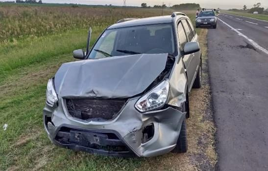 Así quedó uno de los seis vehículos que fueron colisionados durante el hecho.