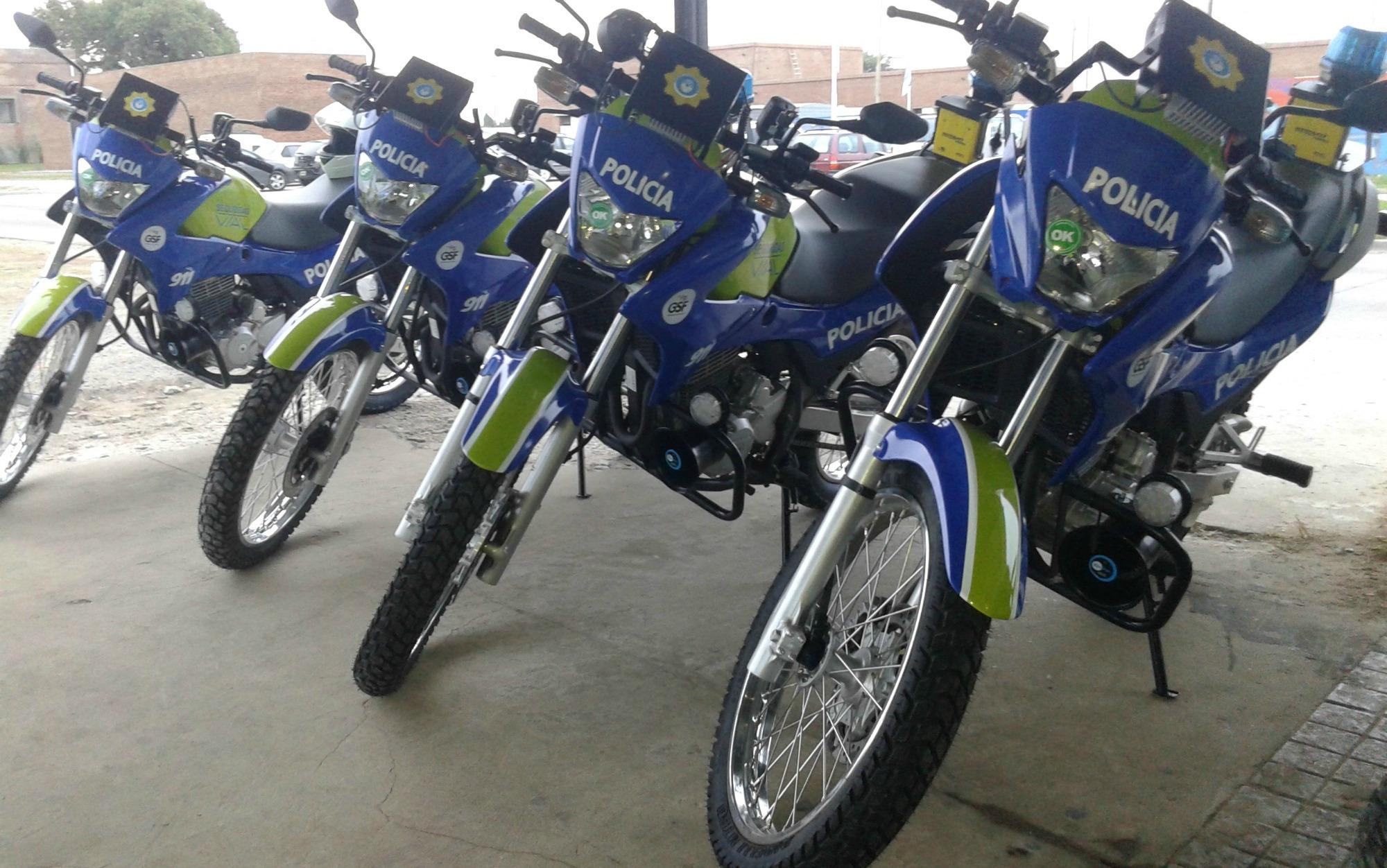Policías de la brigada motorizada participaron de los hechos.