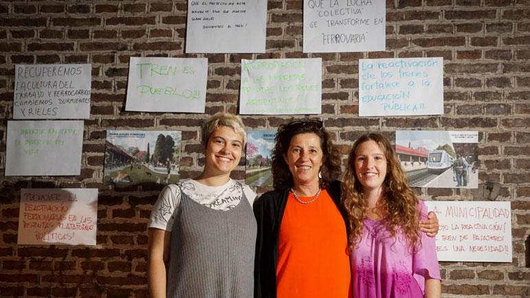 Julieta Gurrea, Mariana Monje y Valentina Pillón, artífices del proyecto.