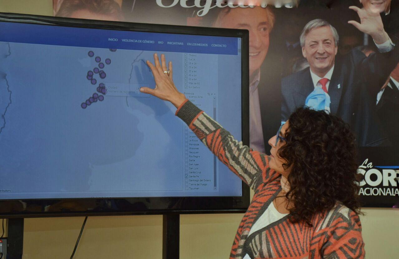 Norma López lleva adelante el Equipo de Género que recolecta las cifras