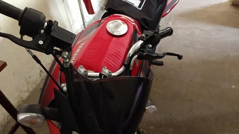 La moto que se habría utilizado para cometer los ilícitos.