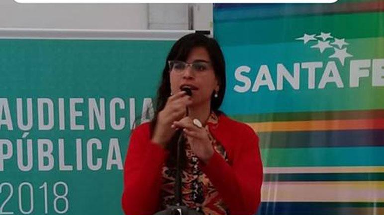 Franca Bonifazzi una de las representantes locales en la audiencia.