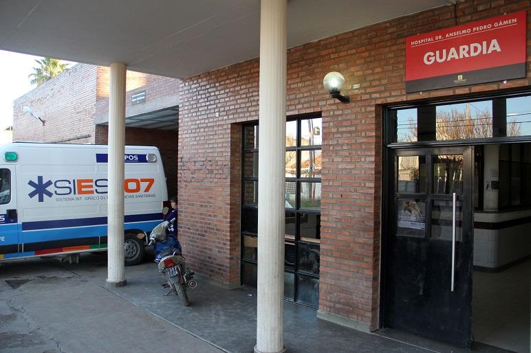 El hospital Gamen, de VGG, adonde el bebé llegó sin vida en brazos de su mamá.