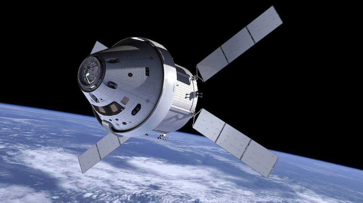 Ilustración de la nave Orion en el espacio.NASA