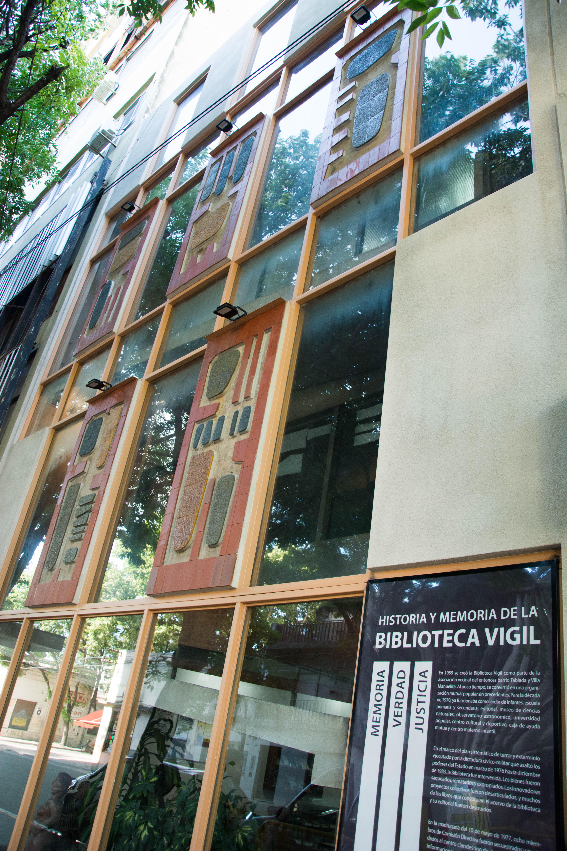 Así quedó la nueva fachada (Foto deMica Pertuzzo - Biblioteca Vigil)