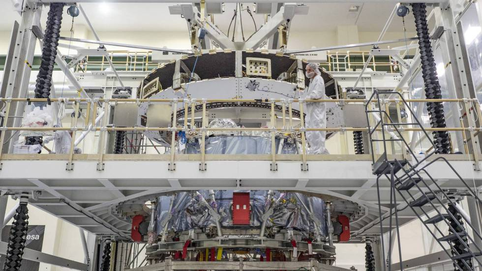 El módulo de servicio de Orion, en el Kennedy Space Center. NASA