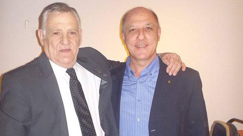 Lisandro Costa junto a Néstor Fandos, uno de sus predecesores.