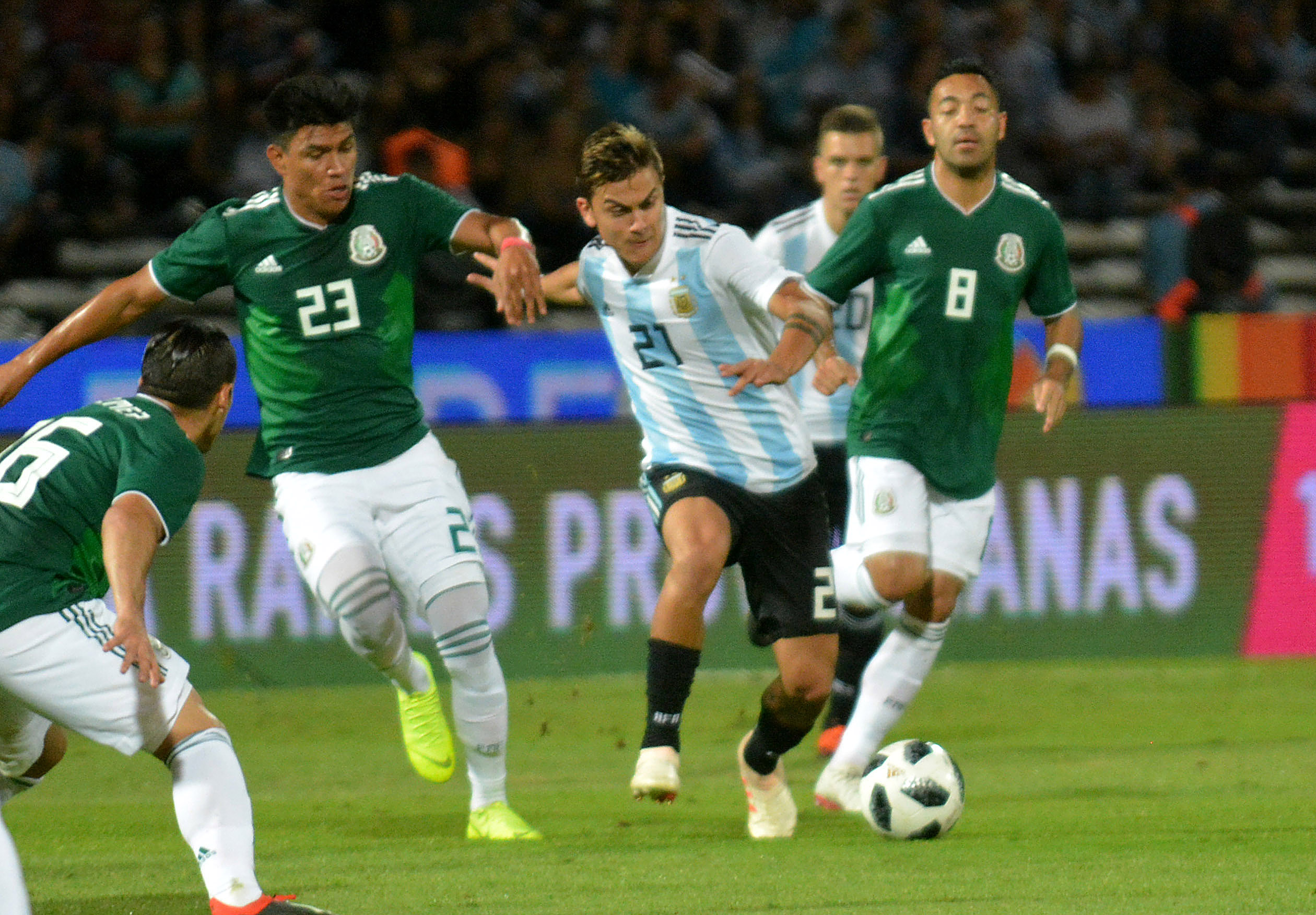 La selección le ganó 2 a 0 a México