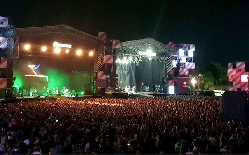 El público colmó el predio del club Ciudad de Buenos Aires.