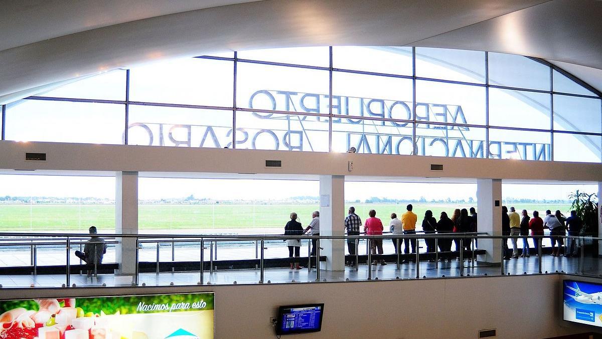 El aeropuerto internacional de Rosario con vuelos cancelados