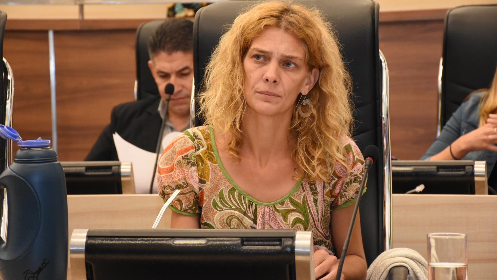 La concejala del Frente Social y Popular, Celeste Lepratti