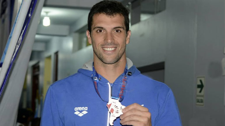 Fede Grabich se colgó la medalla de bronce en los 200 metros Libre.
