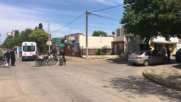 Un nuevo accidente en la ciudad. Esta vez fue en Lisandro de la Torre y Rivadavia.