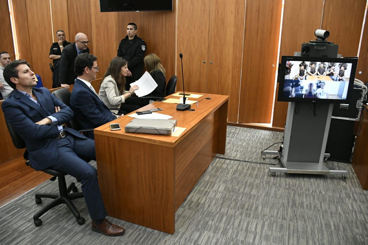 Algunos de los condenados siguieron el proceso vía teleconferencia.