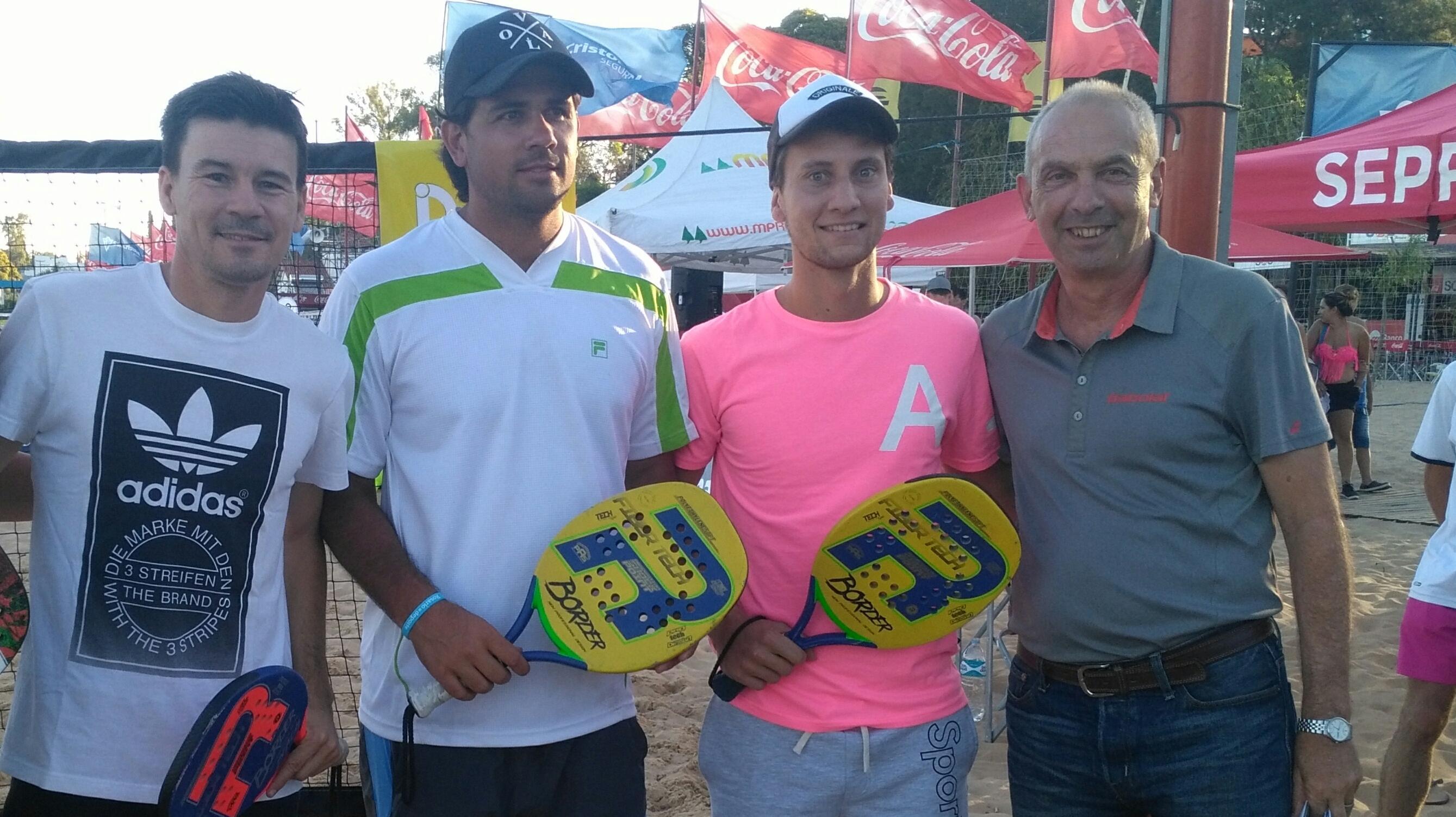 Coria, Schwank, Olivo y el representante de la FST, Jorge Capella.