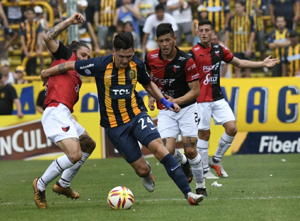 Central tuvo más la pelota en la primera etapa, pero Colón pinchó más de contragolpe.