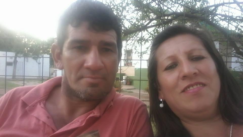 Trinidad y su víctima, en un viaje de placer a Colón. (Facebook)