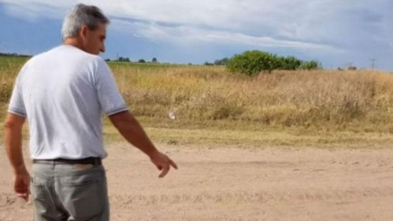 Pedro Peirone dijo haber regresado al lugar en donde se dio el episodio.