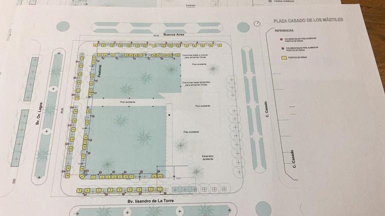La Muni mostró sus planos para remodelar las Cuatro Plazas.