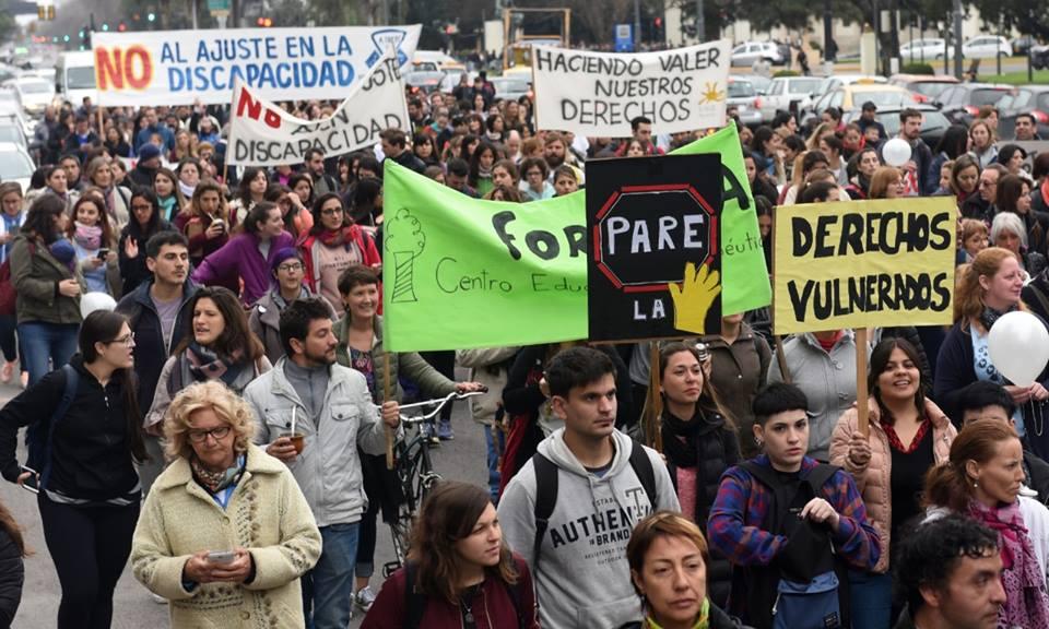 Movilización deAtraes en Rosario.