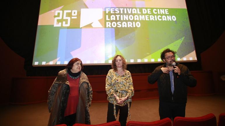 González, Boggino y Ríos, durante la presentación del Festival. (Prensa MR)