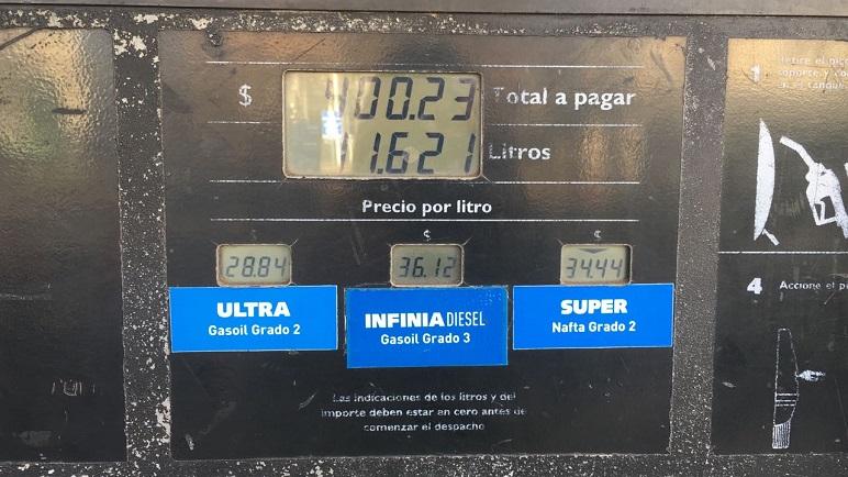 Los actuales precios de los combustibles en la ciudad. ¿Durarán?
