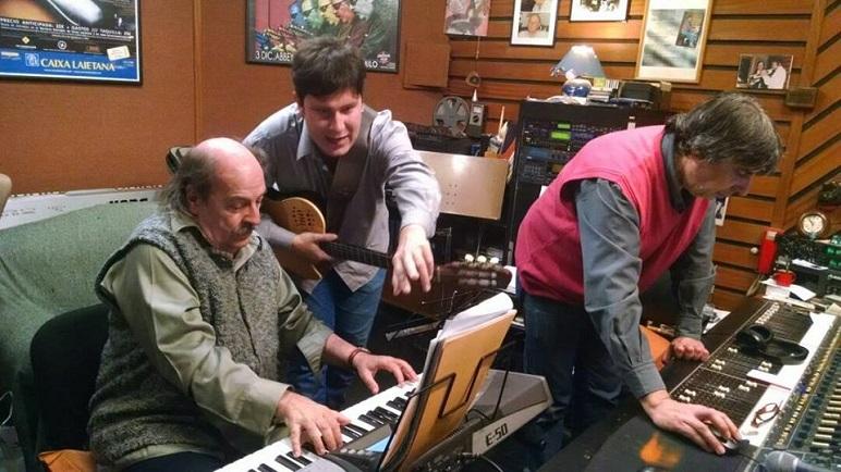 Albano Pellegrini grabó junto a Litto Nebbia en su estudio.