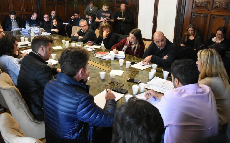 La reunión donde Turrín se explayó sobre los controles realizados este año.