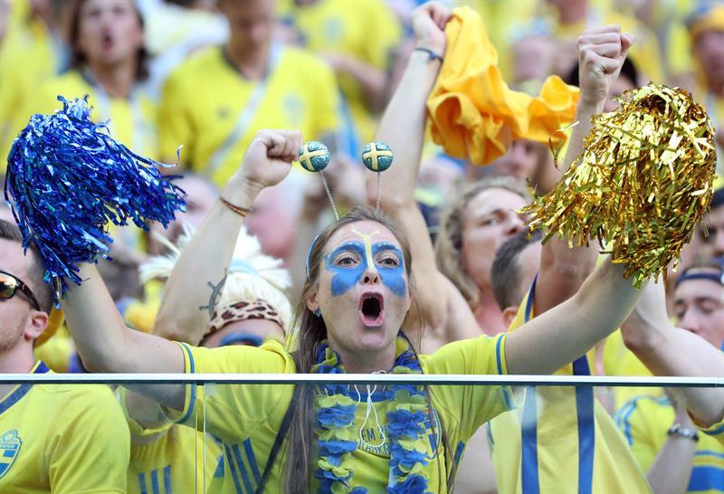 La alegría no es solo brasilera. Suecia también festeja.