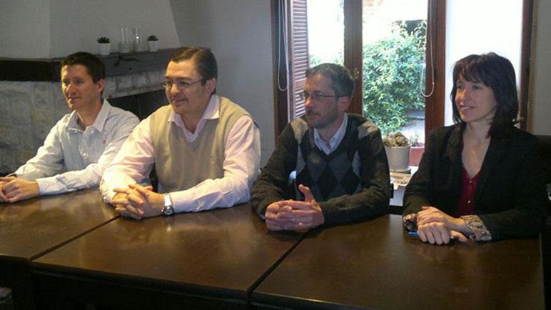 Federico Censi, Pablo Tomat y Celina Arán. Tres soldados que siguen a lado de Sarasola.