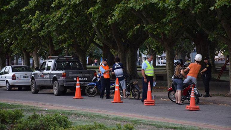 Los controles de tránsito se realizan habitualmente en toda la ciudad.
