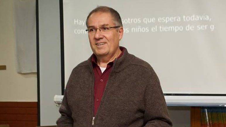 Armando Yualé, delegado local, expresó su apoyo a los colegas reprimidos.