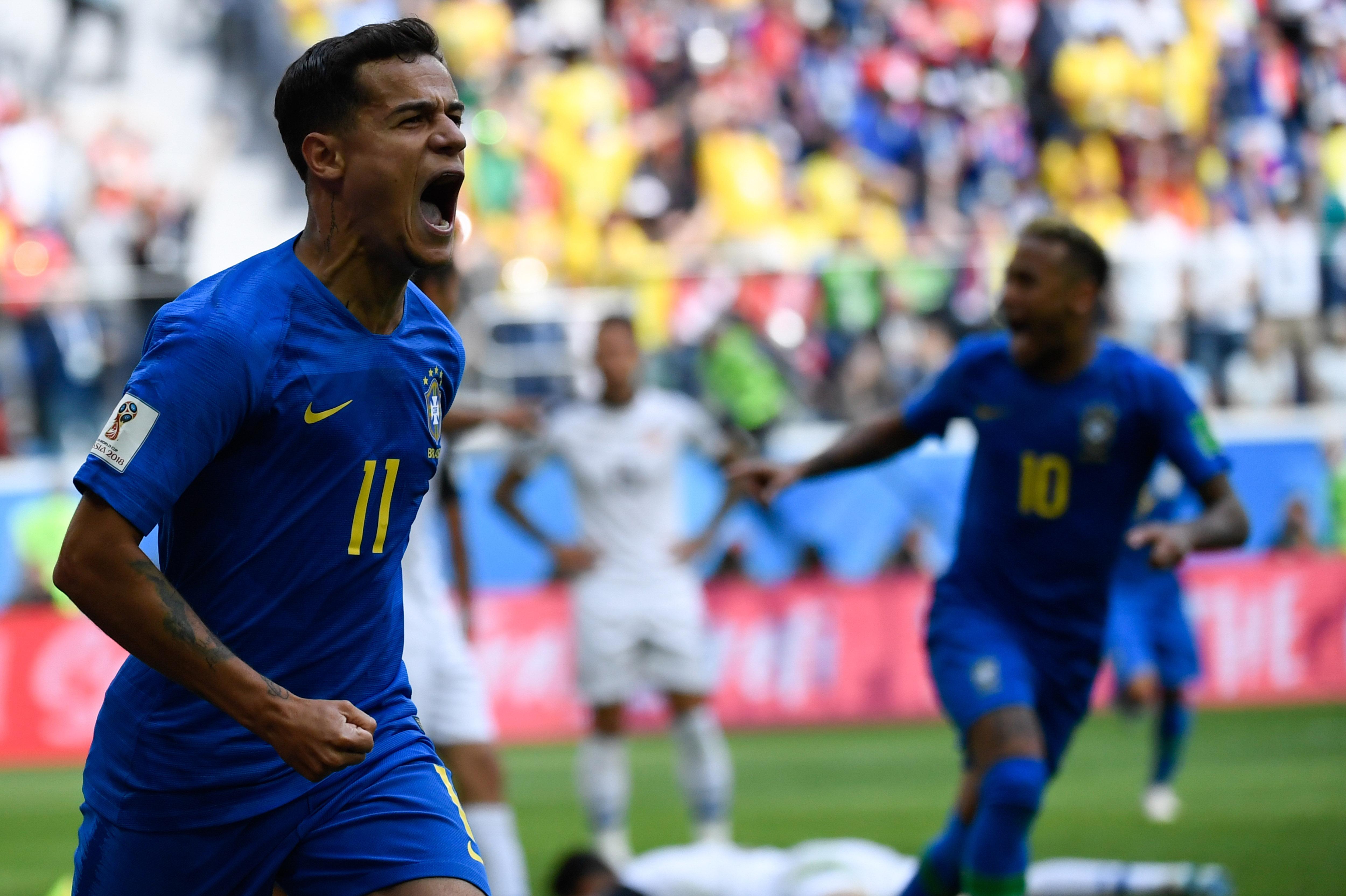 Filipe Coutinho la metió al final