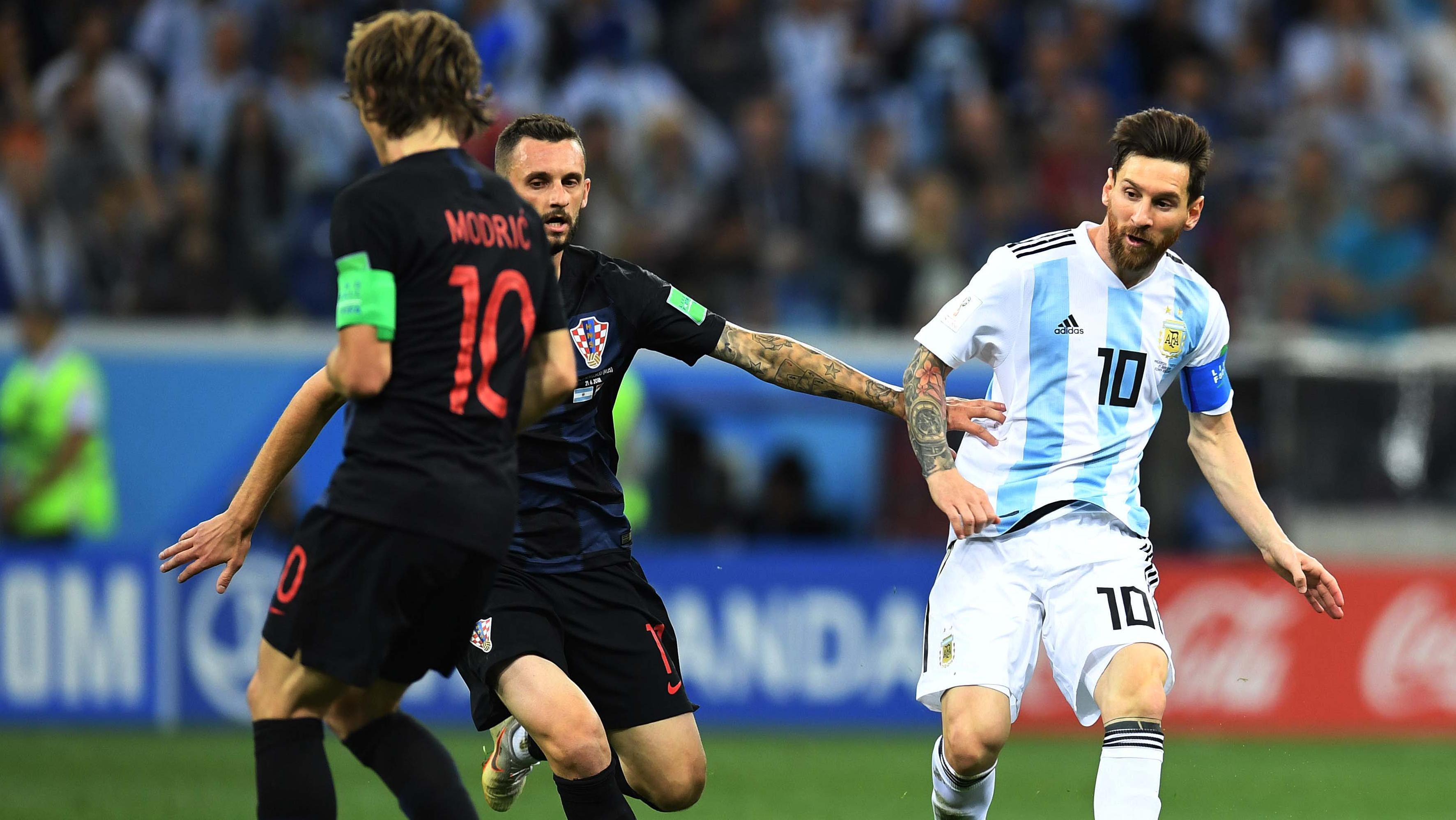 Messi tampoco aportó y estuvo ausente.